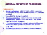 general aspects of prognosis