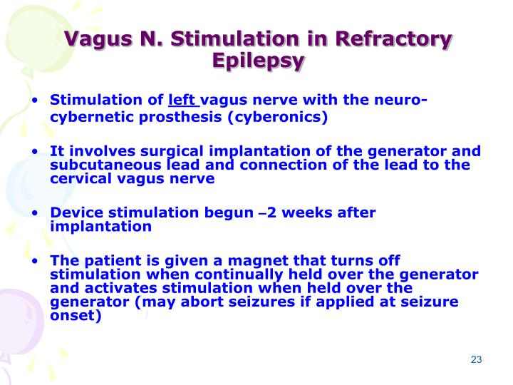 Vagus N. Stimulation in Refractory Epilepsy