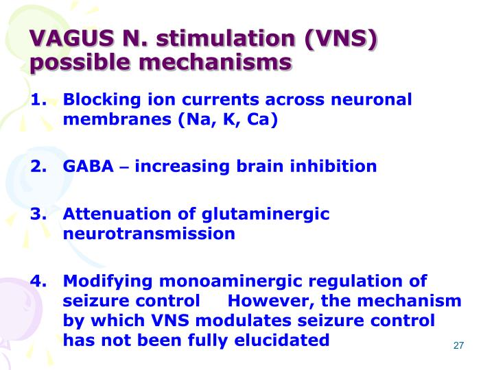 VAGUS N. stimulation (VNS) possible mechanisms