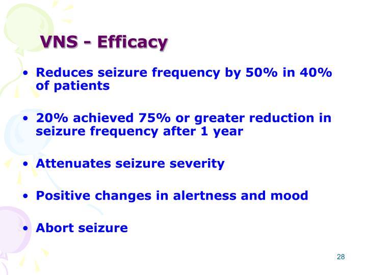 VNS - Efficacy