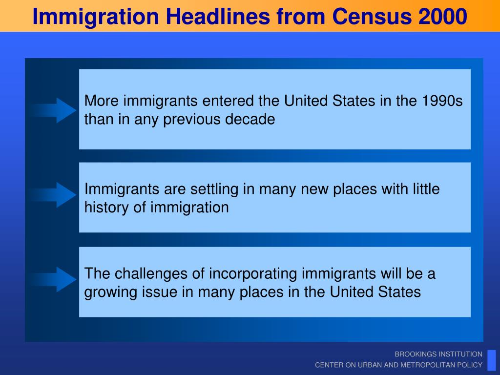 Immigration Headlines from Census 2000