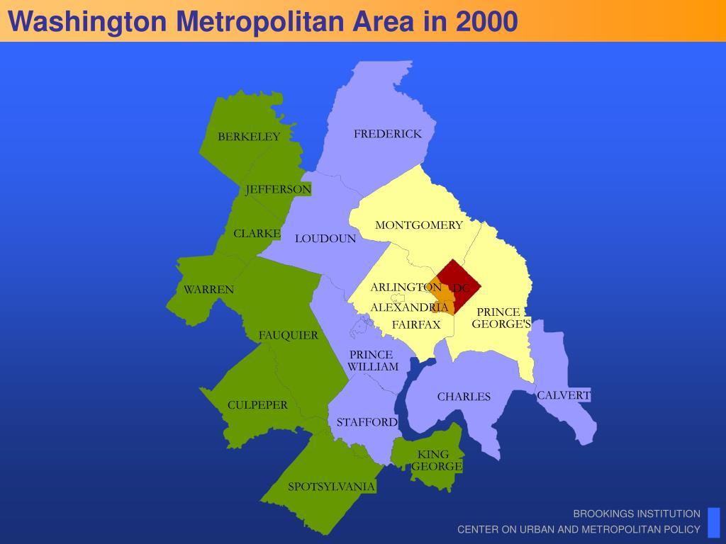 Washington Metropolitan Area in 2000