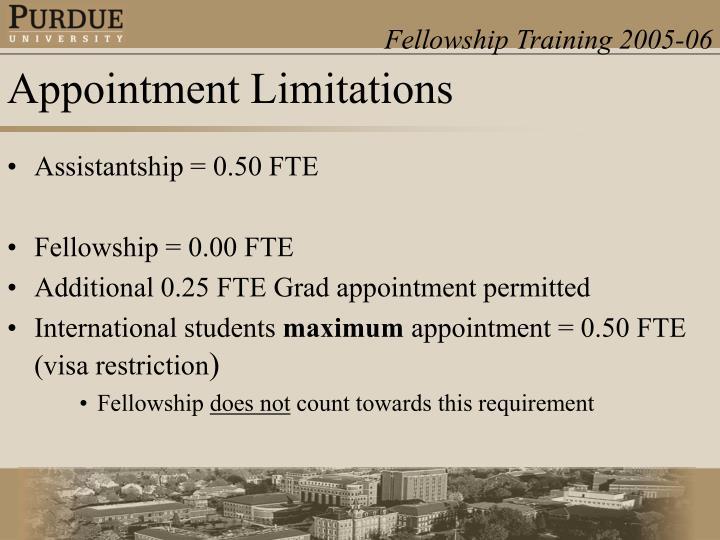 Assistantship = 0.50 FTE