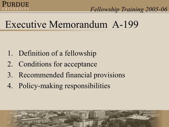 Definition of a fellowship