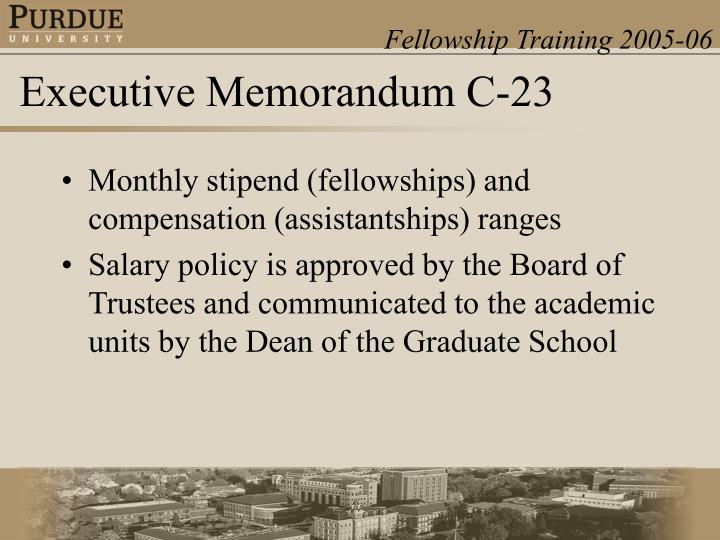 Monthly stipend (fellowships) and