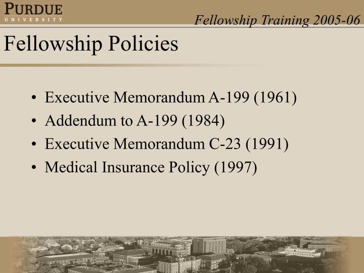 Executive Memorandum A-199 (1961)