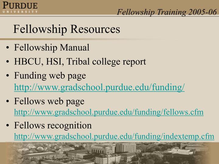 Fellowship Manual