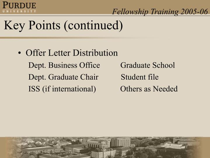 Offer Letter Distribution