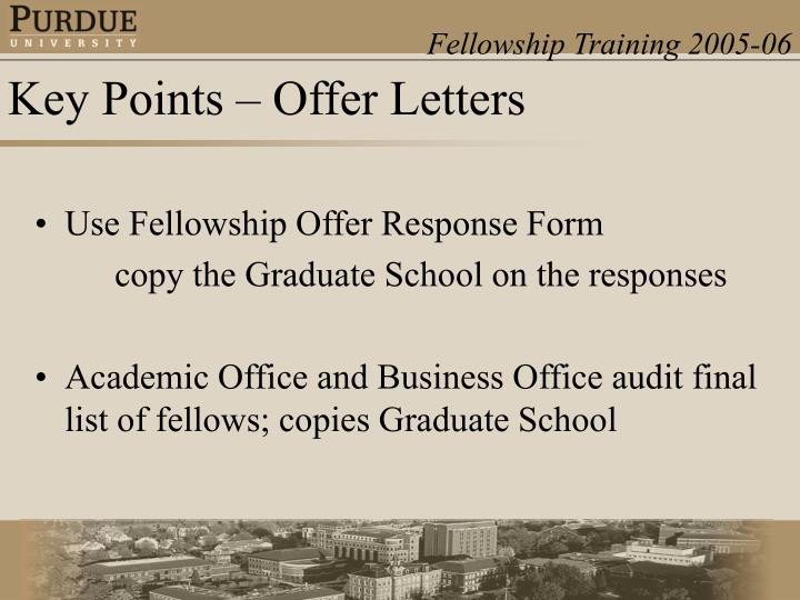 Use Fellowship Offer Response Form
