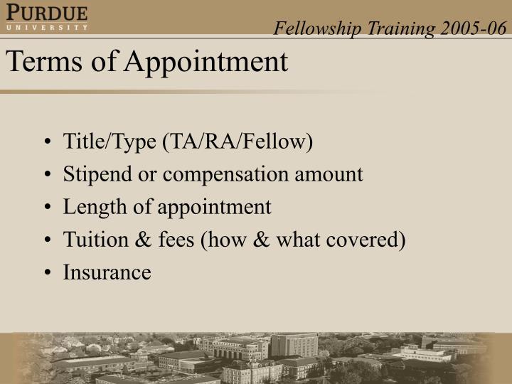 Title/Type (TA/RA/Fellow)