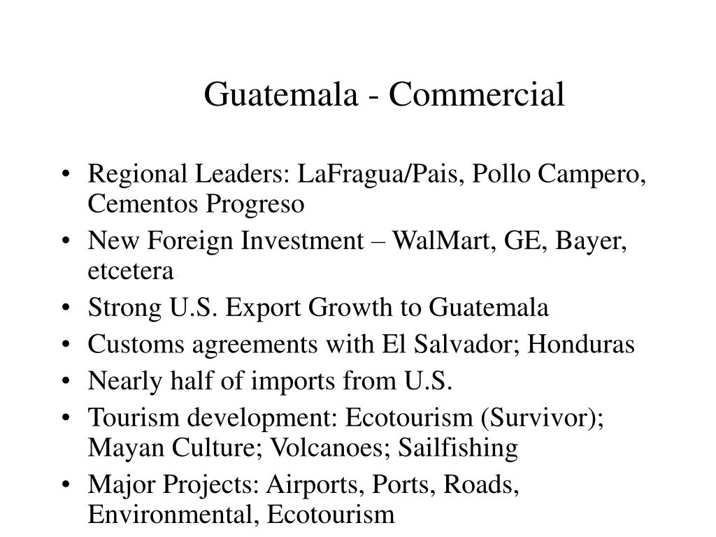 Guatemala - Commercial