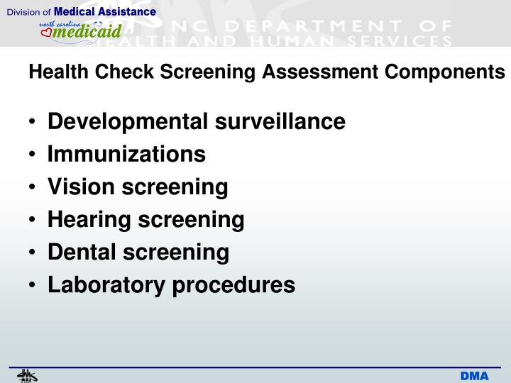 health screening and assessment Your employer may offer a yearly health screening assessment to check your  general fitness using a variety of tests and observations this is a great way to  gain.