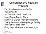 comprehensive facilities program