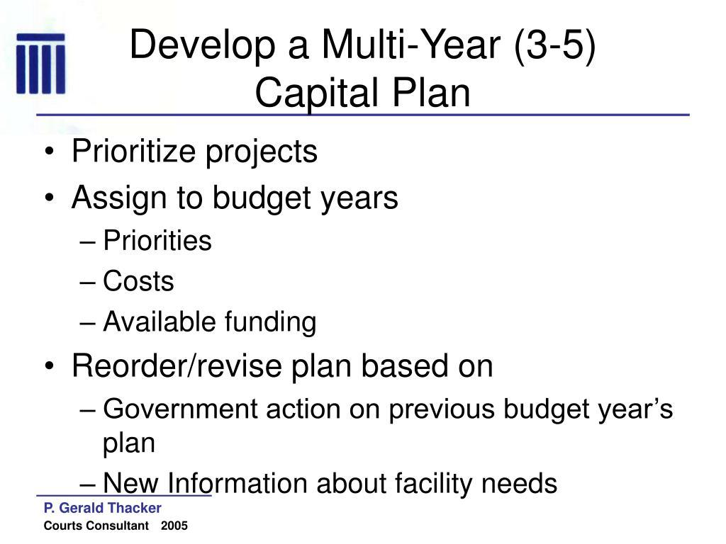 Develop a Multi-Year (3-5)