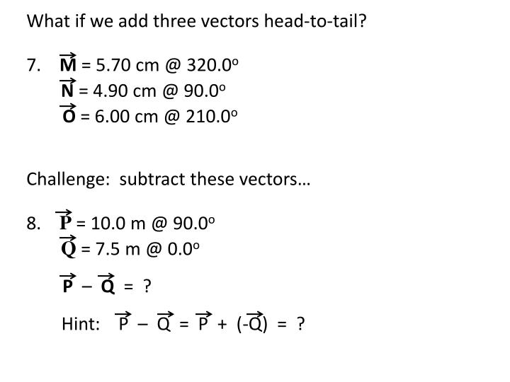 Vector Addition amp Subtraction  The Physics Hypertextbook