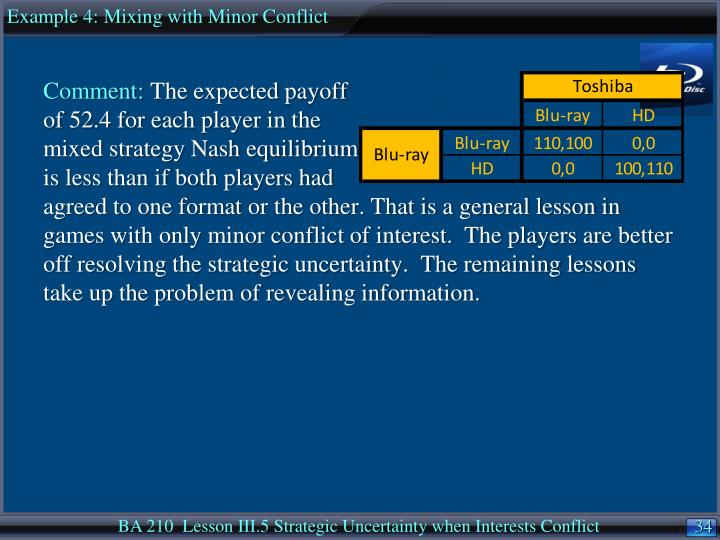 Example 4: Mixing with Minor Conflict