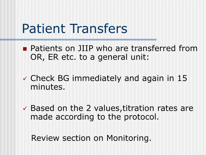 Patient Transfers