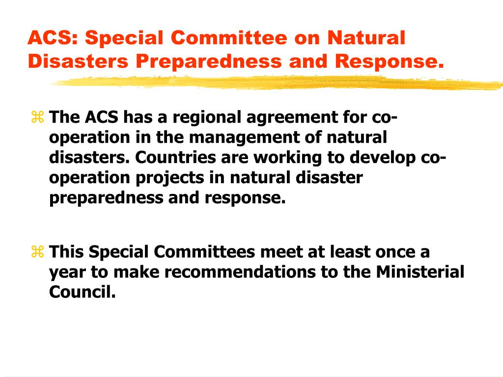 ACS: Special Committee on