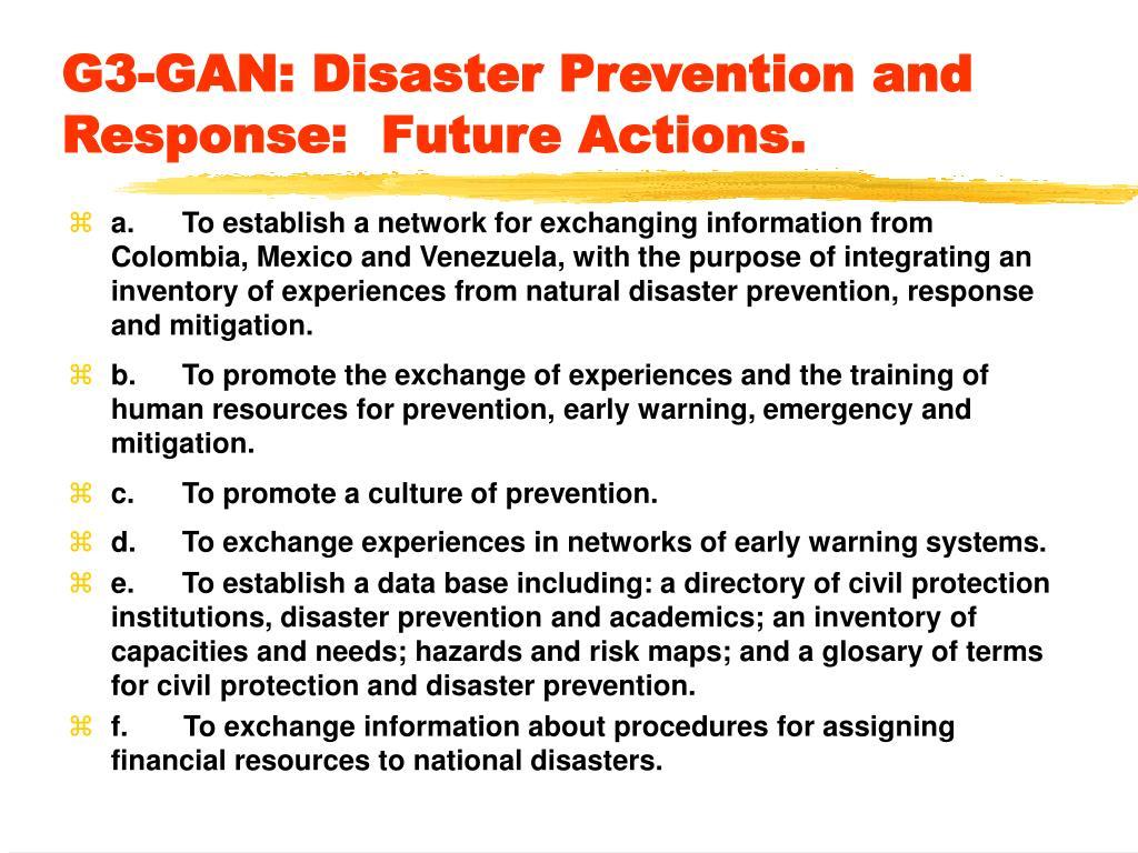 G3-GAN: Disaster