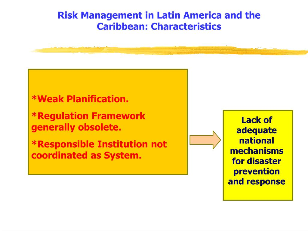 Risk Management in Latin America and the Caribbean: Characteristics