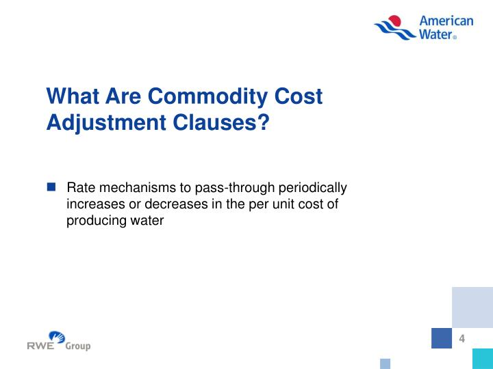What Are Commodity Cost Adjustment Clauses?