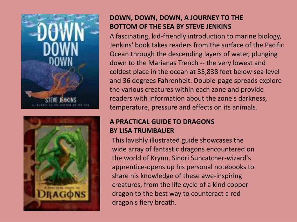 DOWN, DOWN, DOWN, A JOURNEY TO THE BOTTOM OF THE SEA BY STEVE JENKINS