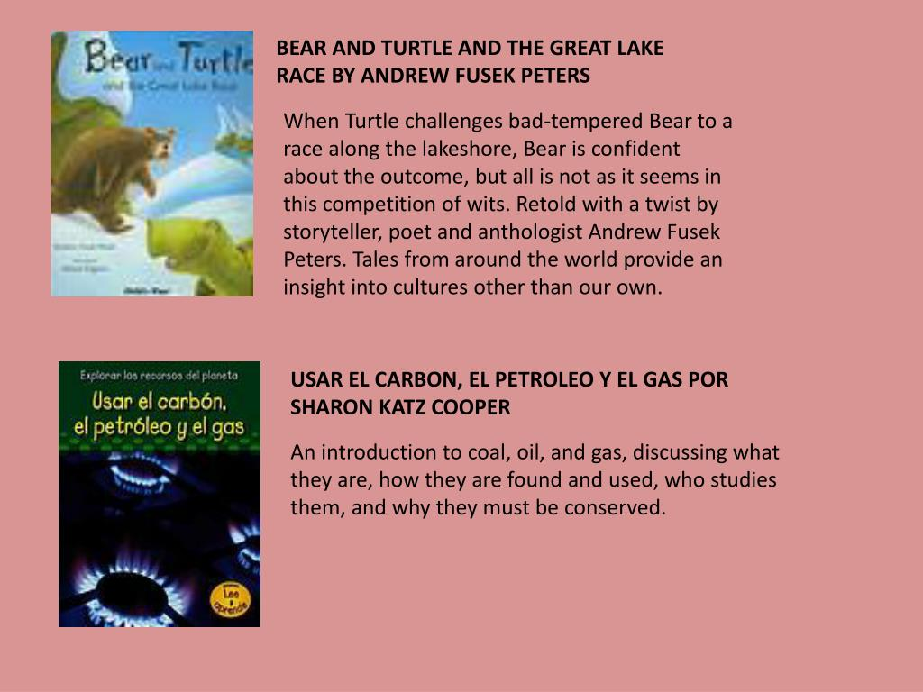 BEAR AND TURTLE AND THE GREAT LAKE RACE BY ANDREW FUSEK PETERS