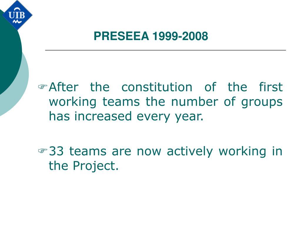 PRESEEA 1999-2008