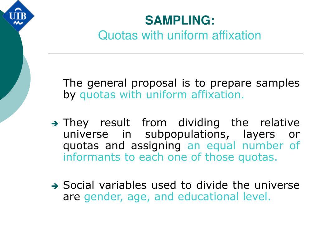 SAMPLING: