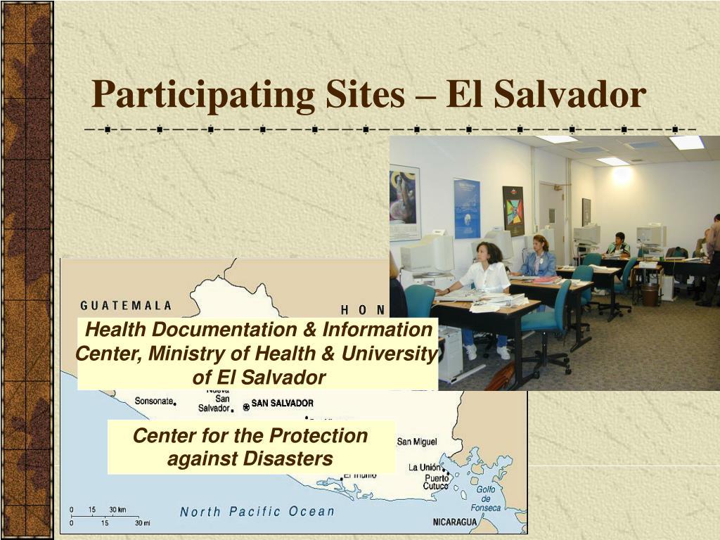 Participating Sites – El Salvador