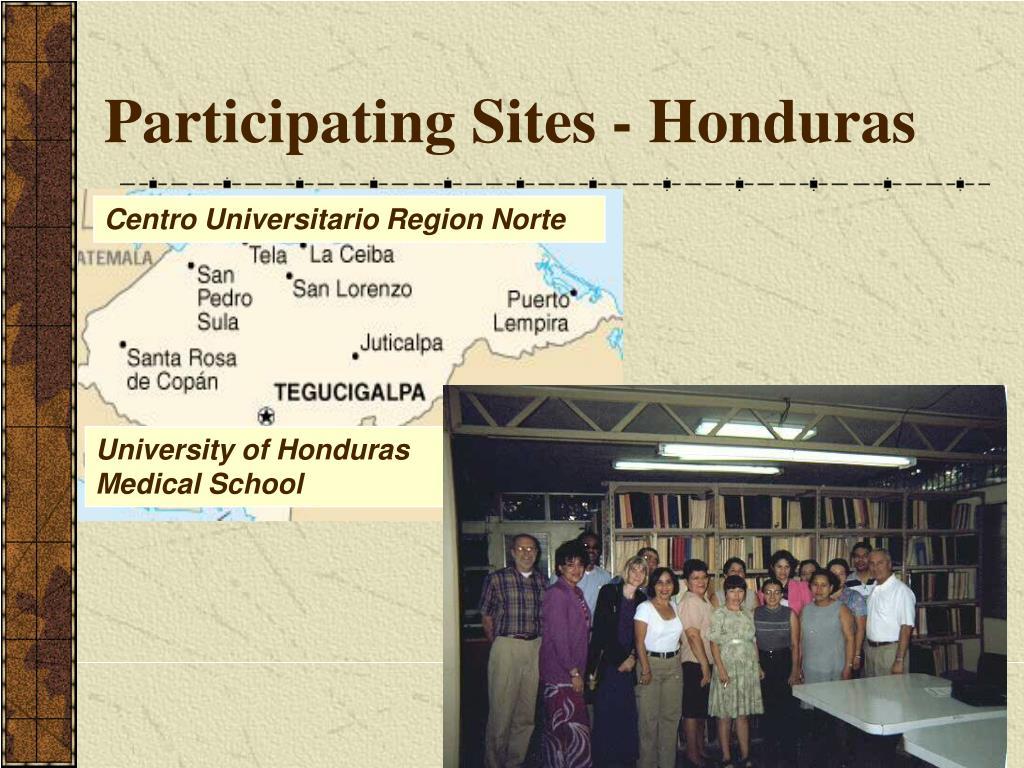 Participating Sites - Honduras