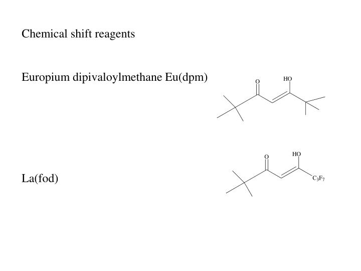 Chemical shift reagents