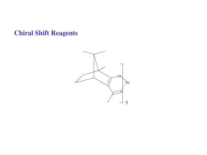 Chiral Shift Reagents