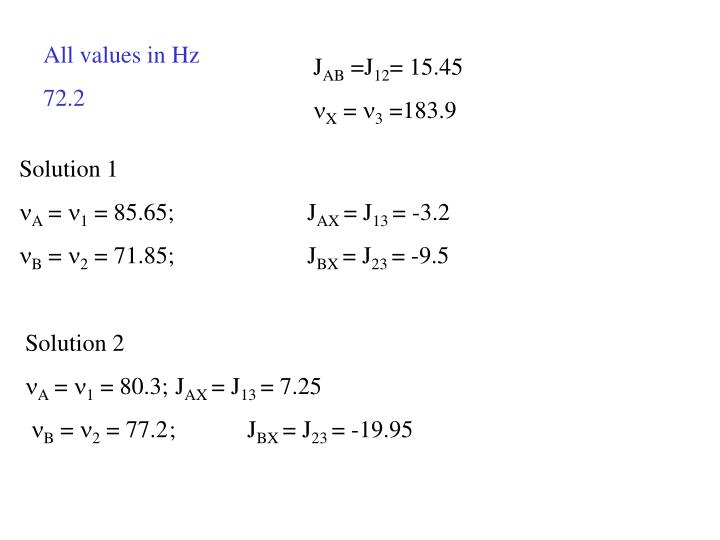 All values in Hz