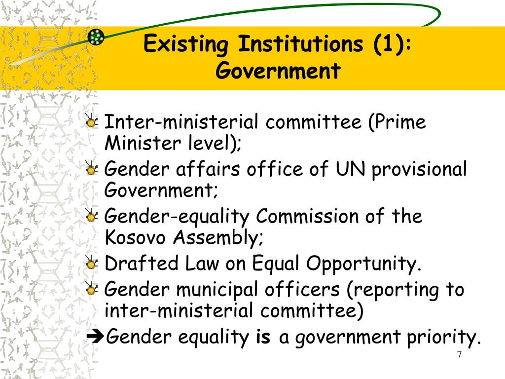 Existing Institutions (1):