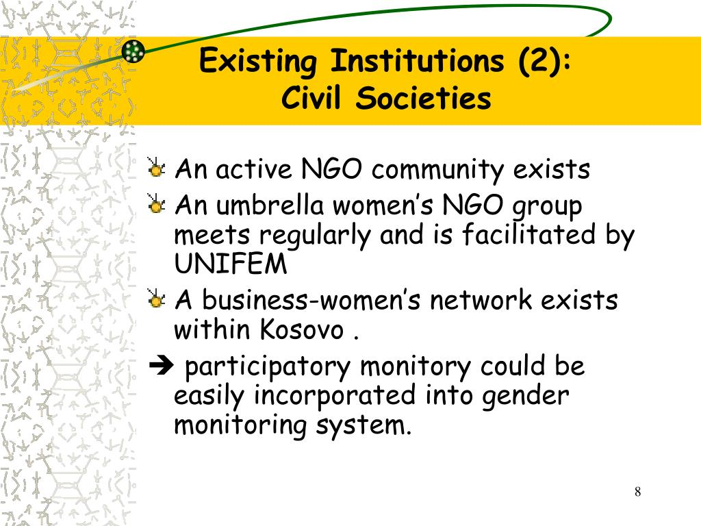 Existing Institutions (2):