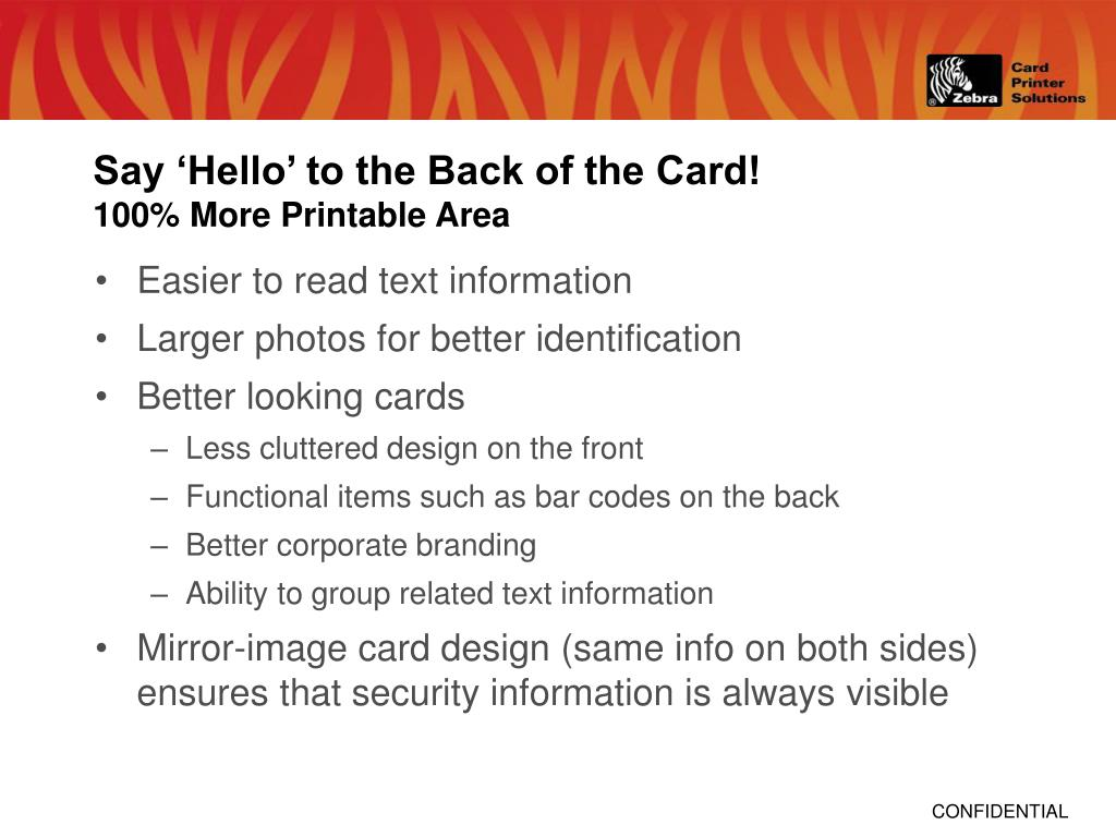 Say 'Hello' to the Back of the Card!