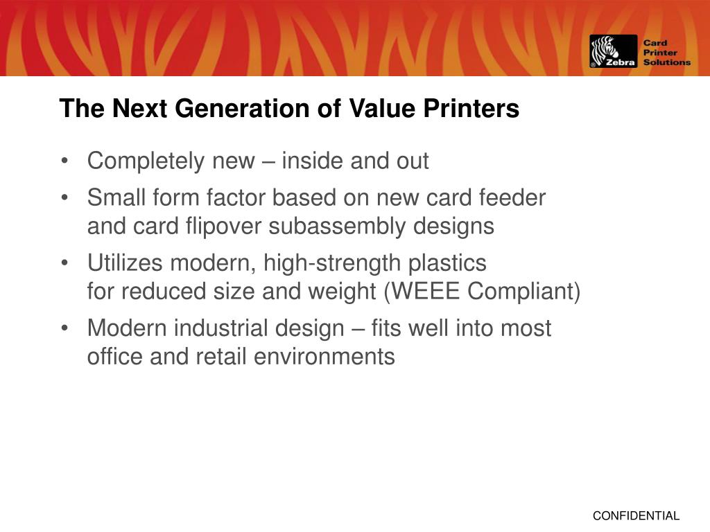 The Next Generation of Value Printers
