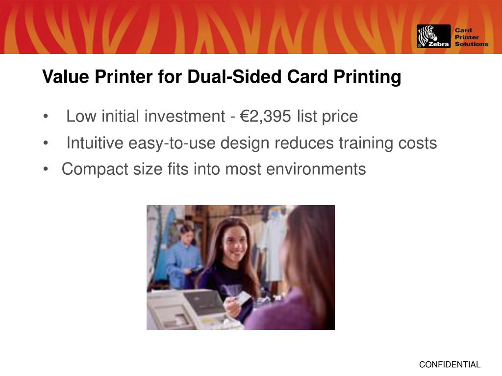 Value Printer for Dual-Sided Card Printing