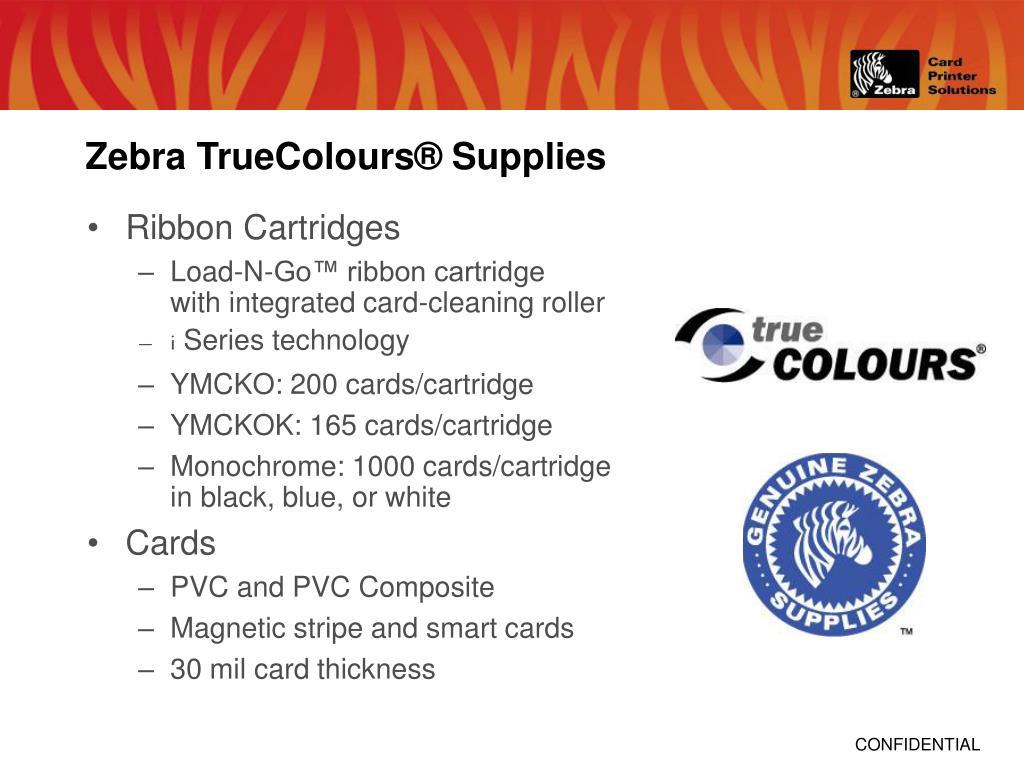 Zebra TrueColours® Supplies
