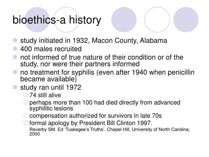 bioethics-a history