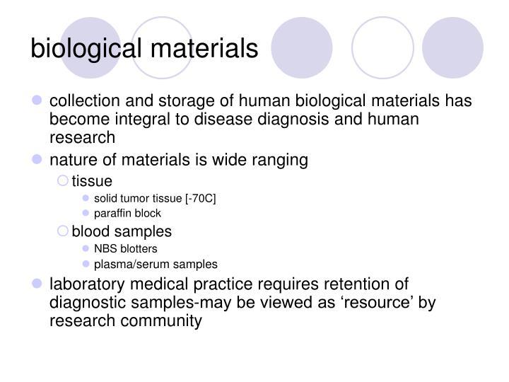 biological materials