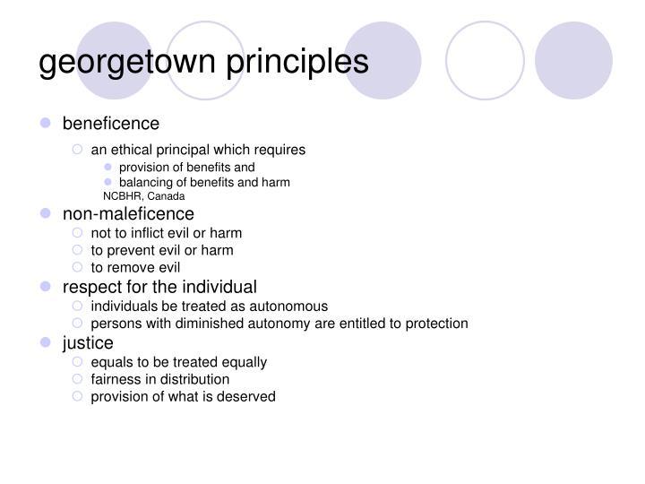 georgetown principles