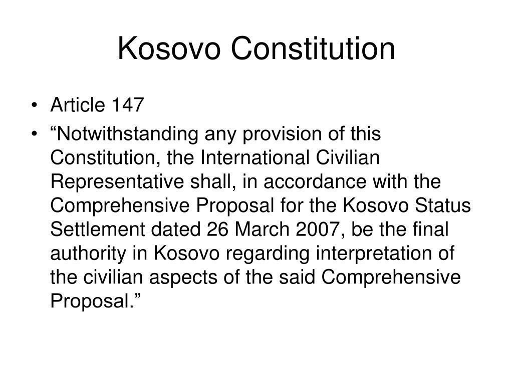 Kosovo Constitution