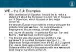 we the eu examples