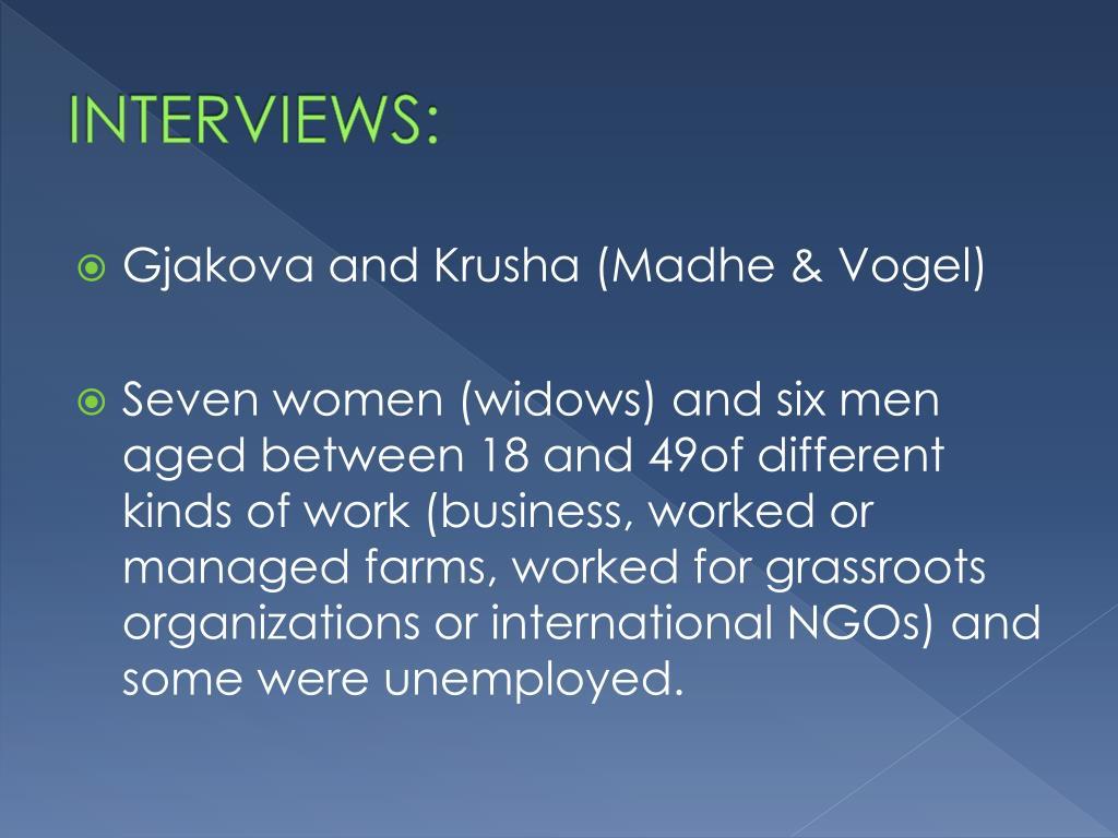 INTERVIEWS: