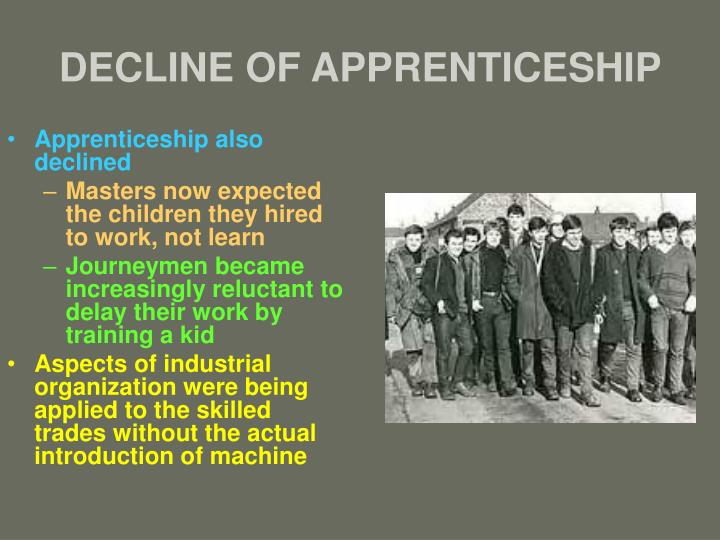 DECLINE OF APPRENTICESHIP