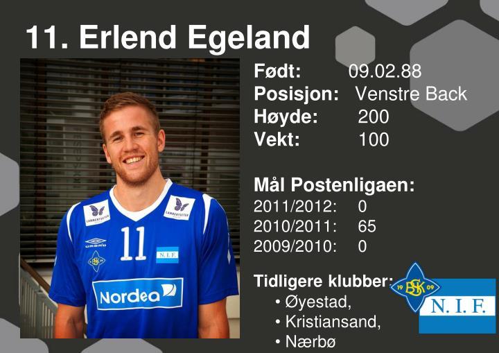 11. Erlend Egeland