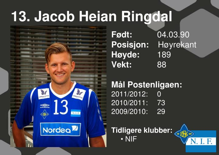 13. Jacob Heian Ringdal