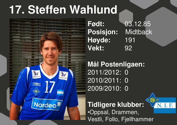 17. Steffen Wahlund